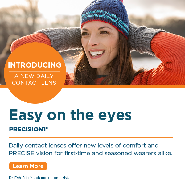 Diverse group of women wearing contact lenses laughing