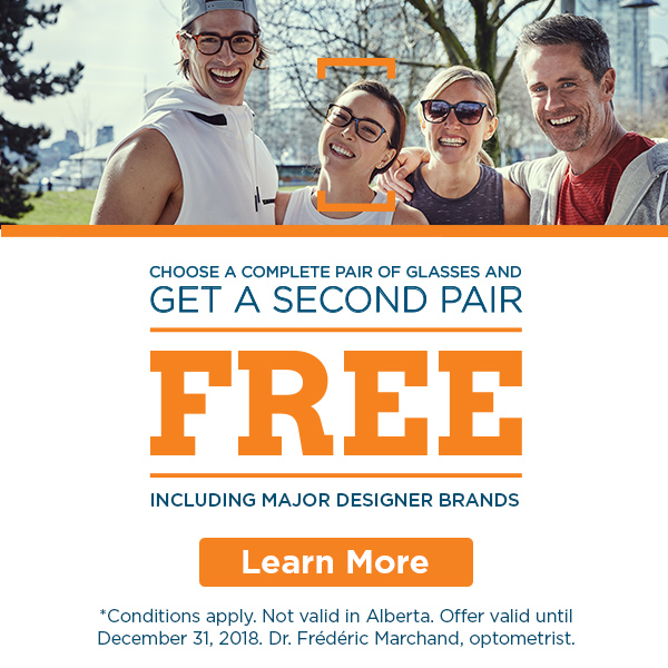 Choose a complete pair of glasses and get a second pair free, including major designer brands.