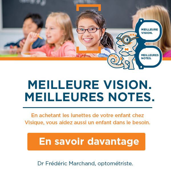 When you buy your child's glasses at Visique, you also help a child in need.