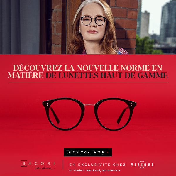 Female entrepreneur Arlene Dickinson wearing Sacori eyeglasses